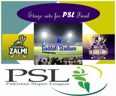 Countdown begins for PSL final in Lahore