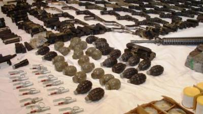 Huge cache of arms recovered from terror den