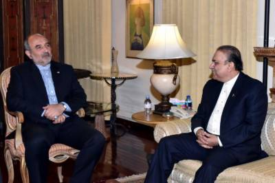 Iranian ambassador calls on Asif Zardari