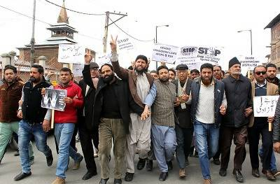 Anti-India joint protest march held in Srinagar