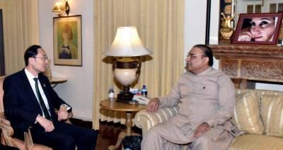 Chinese ambassador calls on Asif Zardari