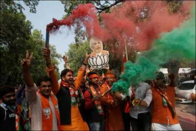 Modi's BJP landslide victory in State Elections: Election Commission