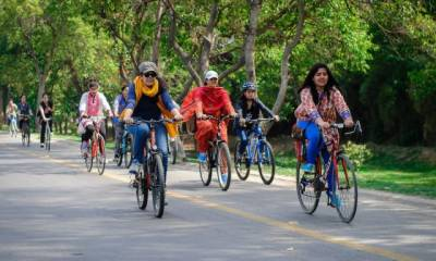 First ever Lahore to Kasur women cycle race being held
