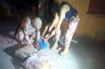 Rangers saves Karachi from disaster recovering huge cache of arms