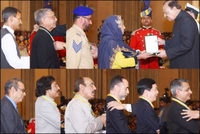 List of civil and military awards recipients on Pakistan Day