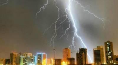 Hailstorm, Thunderstorm in Dubai