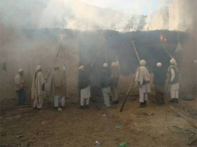 TTP militant House set on fire by fellow tribesmen