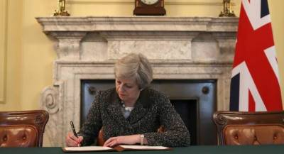 British PM signs letter to leave European Union