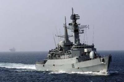 Pakistan Navy warships patrol Malaysia's Malacca waters