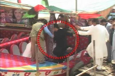 Bilawal Bhutto saved by PPP worker