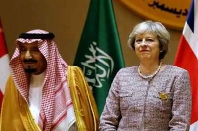 British PM lands in Saudi Arabia on hunt for post brexit deals