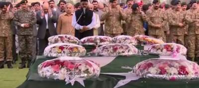 Lahore Blast martyred soldiers funeral prayers offered