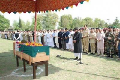 Funeral Prayer of Rangers martyred offered at Multan Garrison