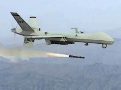 US drone strike in Afghanistan targeting ISIS terrorist vehicle