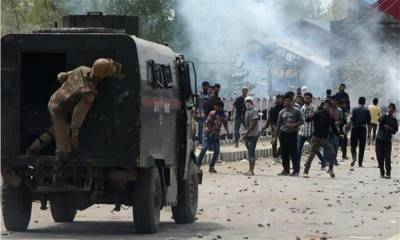 Indian forces crackdown leave dozens student injured in IOK