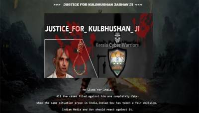 Indian Hackers hack Pakistani website and place Kulbhushan Yadav poster