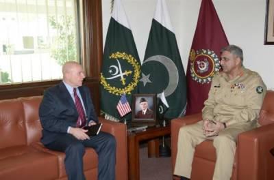 US NSA General McMaster calls on COAS General Qamar Bajwa at GHQ