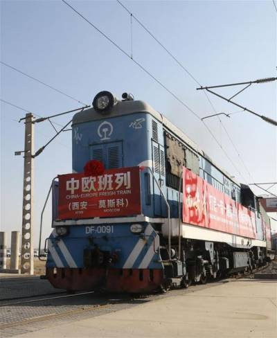 China started new freight train service to Moscow