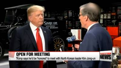Trump expresses willingness to meet with N Korean leader Kim