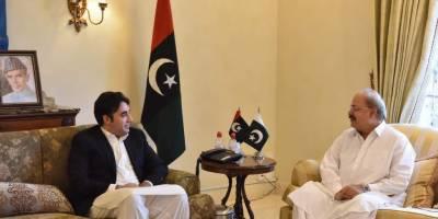 Bilwala Bhutto meets Manzoor Wassan