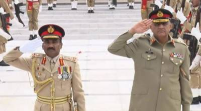 Srilankan Army Chief holds regional security discussion with COAS in GHQ