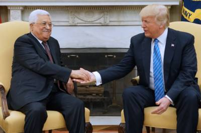 Trump, Abbas vow to work together to bring peace in Middle East