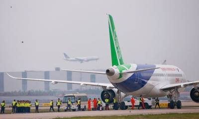 China's first home-grown jet takes off on maiden flight