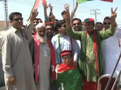 Imran Khan PTI jalsa in Nowshera