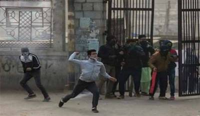 Kashmiri students raise Pakistani flag in College buildings, Indian Forces resort to shelling