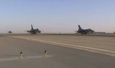 Egyptian Air Force destroy terrorist camps in Libya