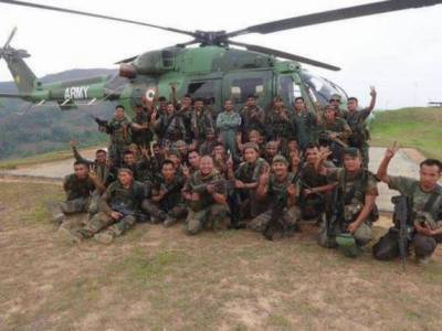 Indian Army three officials hit by Nagas, three militants killed