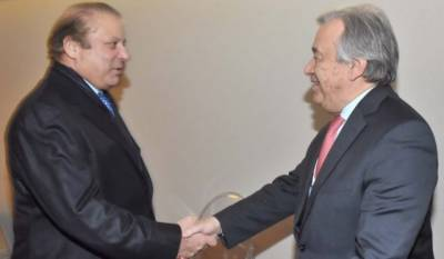 PM Nawaz Sharif raises Kashmir issue with UN Secretary General