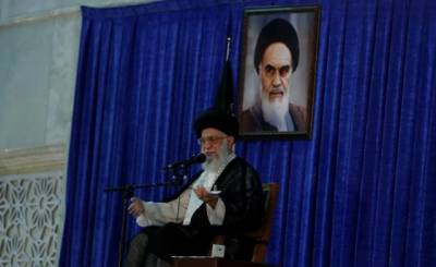 Iran's supreme leader Khamenei hits hard at US