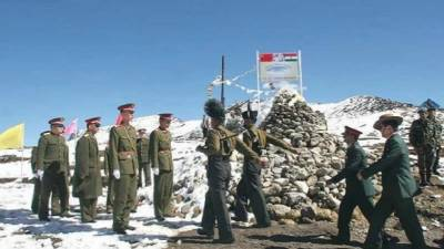 Chinese Army destroy Indian Army bunkers at Sikkim border inside India