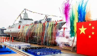 Chinese Navy launches World's largest Warship out gunning Indian Navy latest technologies