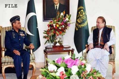 PAF Chief discuss future targets of Air Force with PM Nawaz Sharif