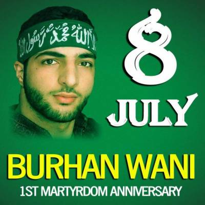 Burhan Wani home in occupied Kashmir raided by Indian troops on his first martyrdom anniversary
