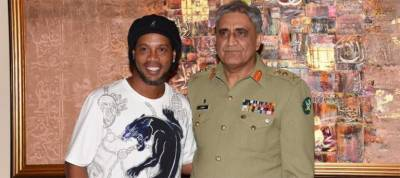 COAS holds reception for International football legends in Pakistan