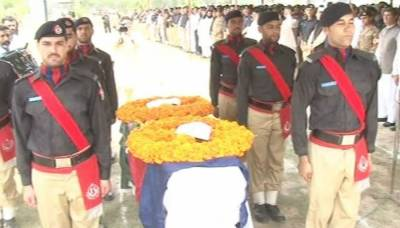 SSP Sajid Khan Shaheed laid to rest in Peshawar