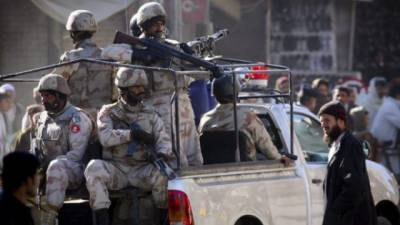 FC Balochistan recovers huge cache of weapons
