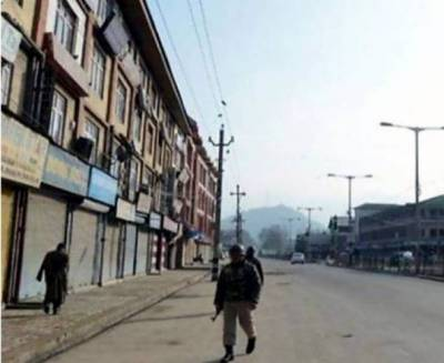 Complete shutdown in occupied Kashmir against martyrdom of two boys by Indian Army