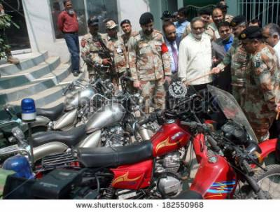 Sindh Rangers conduct heavy bike rally in Karachi