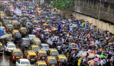 Over 200,000 Indians protest in Mumbai over unemployment, poverty
