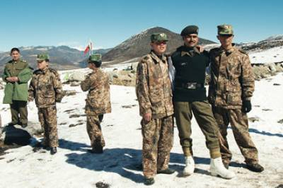 Indian Army flexing muscles on Chinese border
