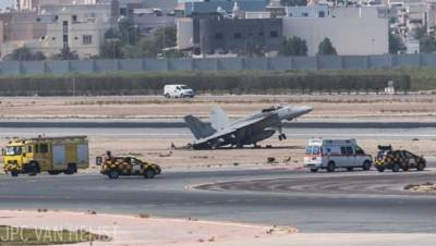 US fighter jet makes crash landing at Bahrain