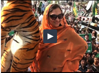 Video: Marvi Memon steals the show for PML-N supporters
