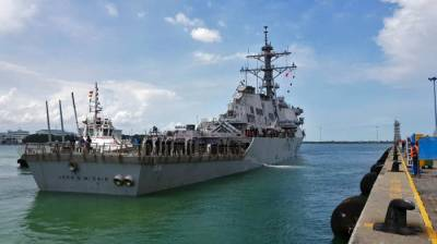 US Navy Warship crashes into another vessel near Straits of Malacca
