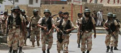 Sindh Rangers recover huge cache of weapons from Karachi's Lyari