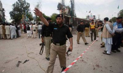 Blast in under construction police post in Peshawar