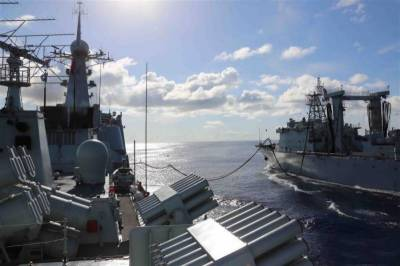 Chinese Navy holds live fire drill in Indian Ocean